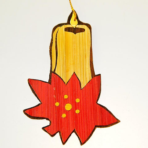 Fair Trade Tree Decoration - Candle & Flower