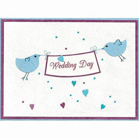 Fair Trade Wedding Day Card - Wedding Day Banner