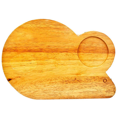 Fair Trade Wooden Cheese Board - Mouse Shaped