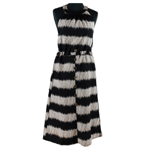 Halterneck Dress - Black/Grey