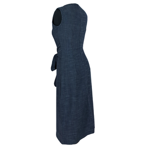 Sleeveless Knee Length Dress - Charcoal Grey