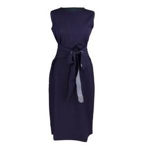 Sleeveless Knee Length Dress - Dark Purple