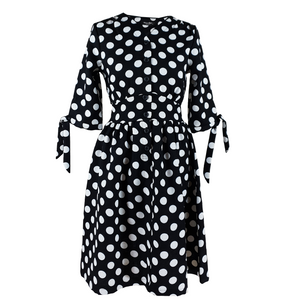 3/4 Sleeve Polka Dot Mini