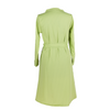 Long Sleeved Knee Length Dress - Zesty Green