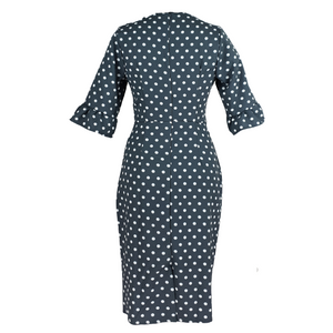 Ruffle Sleeved Polka-dot Dress