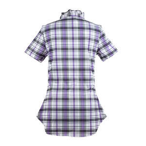 Ruffle Collar Short Sleeve Shirt