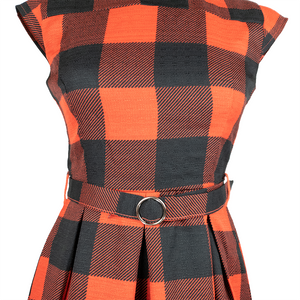 Skater Dress with Buckle Belt