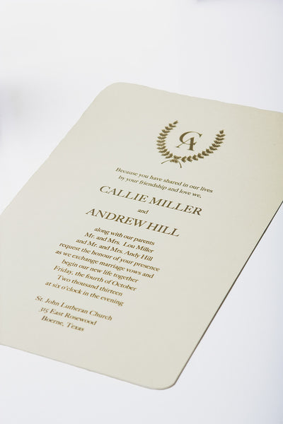 Miller Invitation (Thermography)