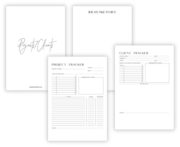 A5 Black Planner Bundle