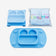 EasyMat Mini Portable Baby Suction Plate with Lid and Carry Case