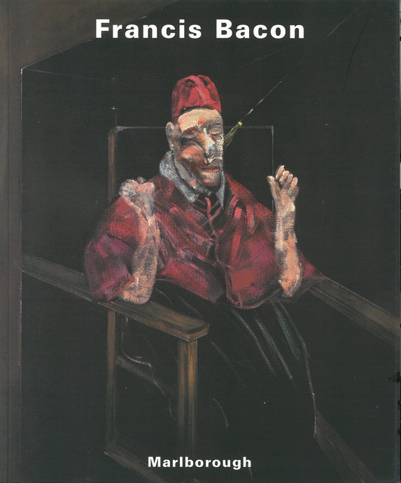 Bacon catalogue cover featuring a painting of a man wearing a robe sitting in a chair