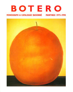 Botero monograph cover featuring a painting of an orange