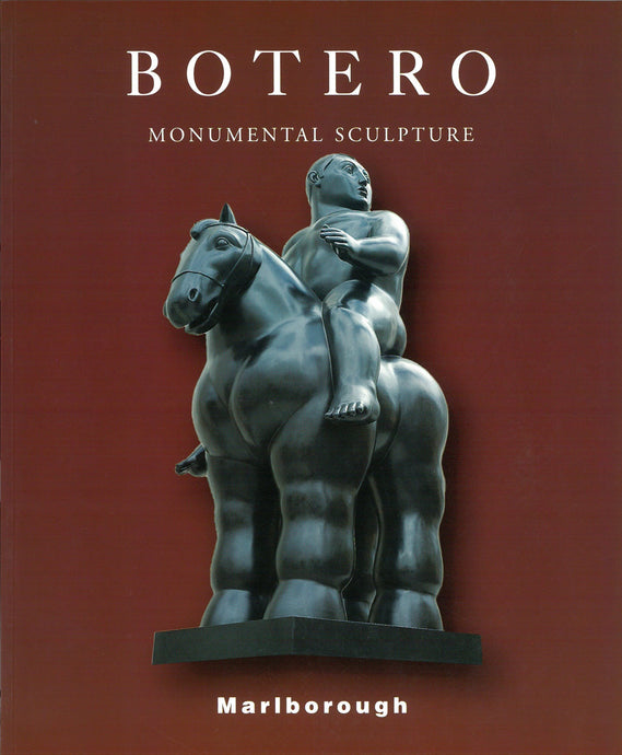 Botero catalogue cover featuring a sculpture of a man on a horse