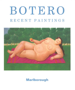 Botero catalogue cover featuring a painting of a reclining nude woman