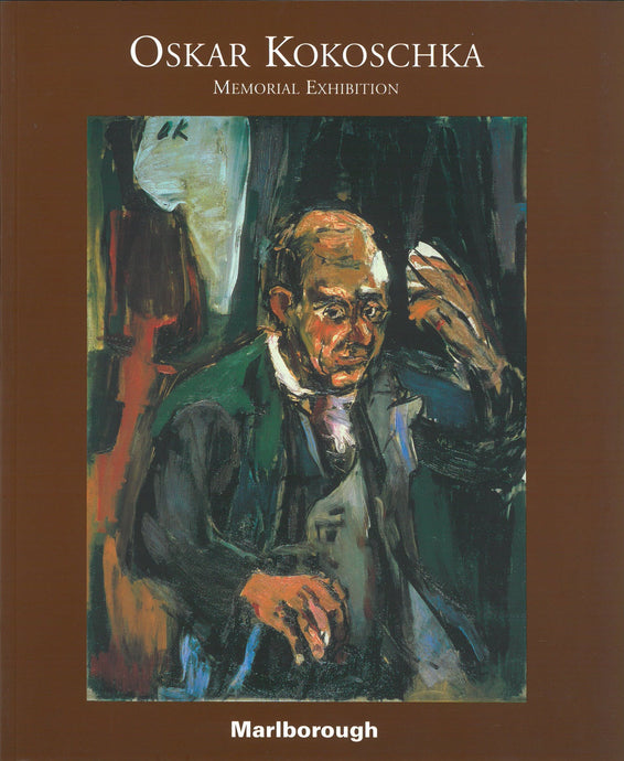 Kokoschka catalogue cover featuring a painting of a man