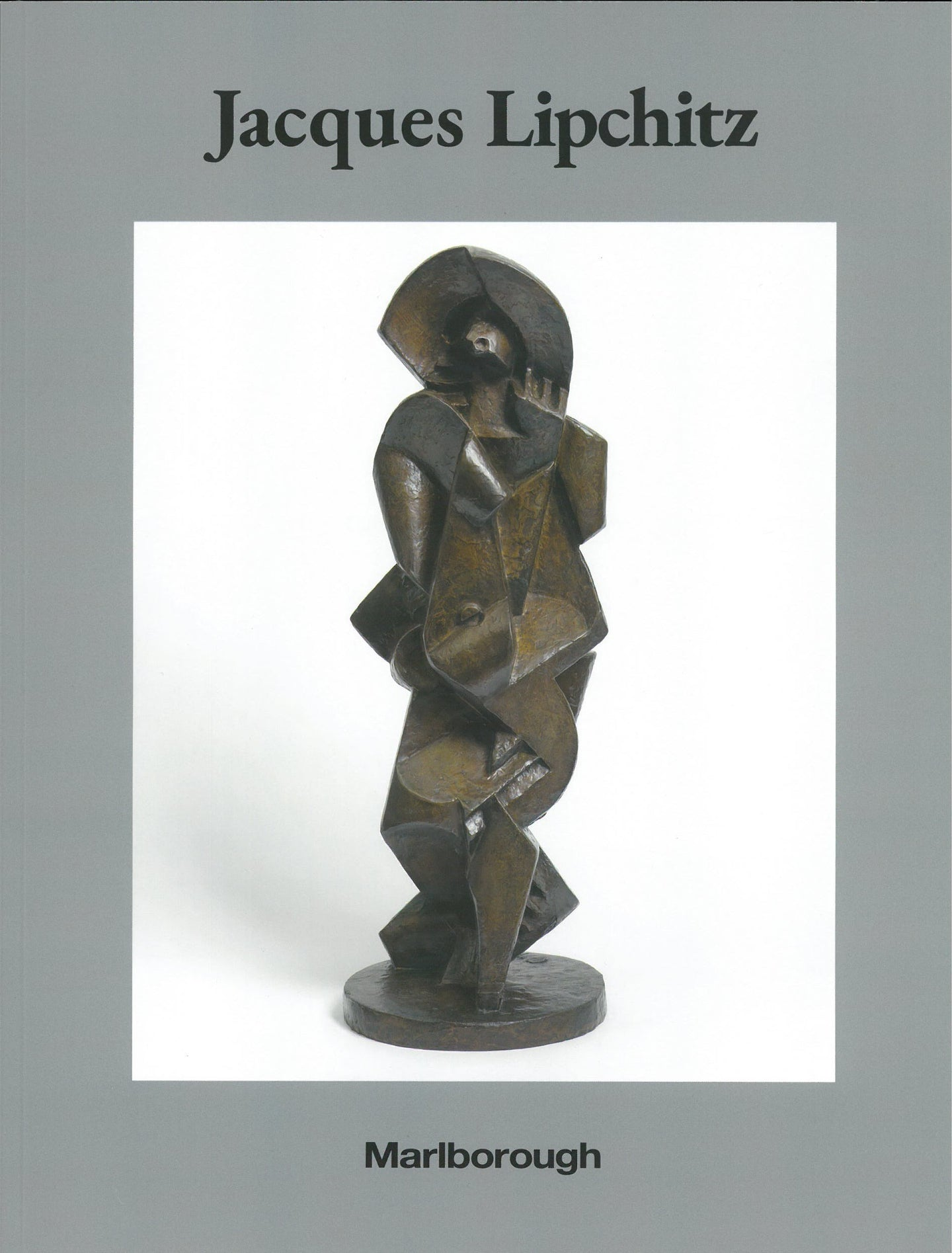 Lipchitz catalogue cover featuring bronze sculpture