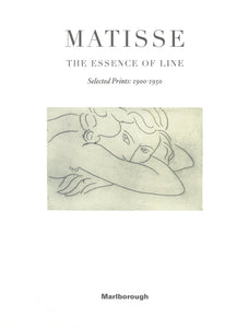 Matisse catalogue cover featuring a small drawing of a woman lying down