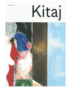 Kitaj catalogue featuring an abstract painting with blue, brown, and red colors