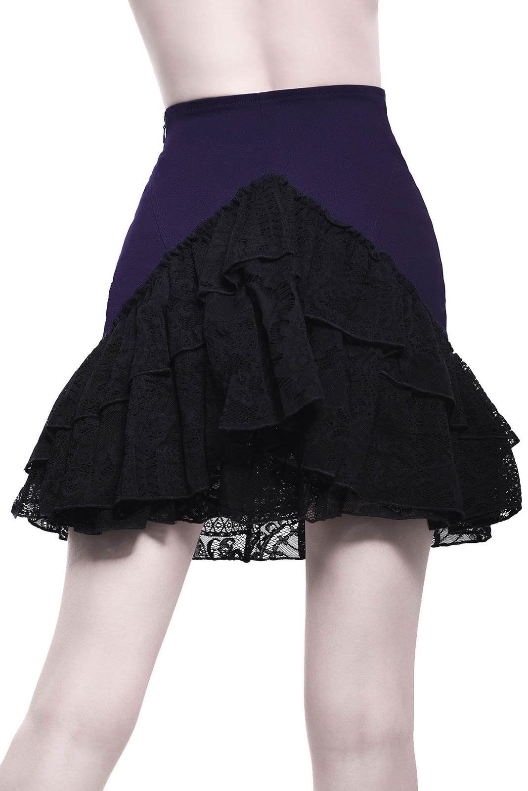 Adoria Bustle Skirt [PLUM]