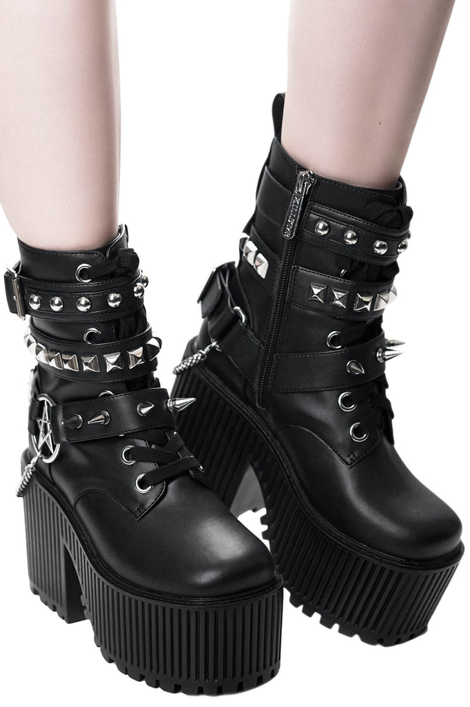 classic styles vast selection quality products Killstar Alice Studded Boots