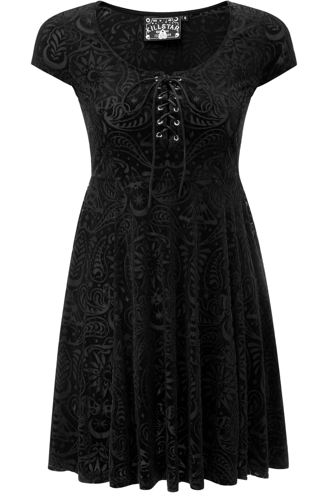 Angelyn Burnout Velvet Dress [B]
