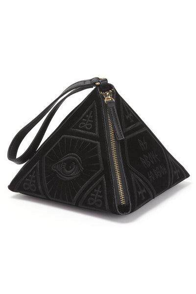As Above Velvet Pyramid Handbag [B]