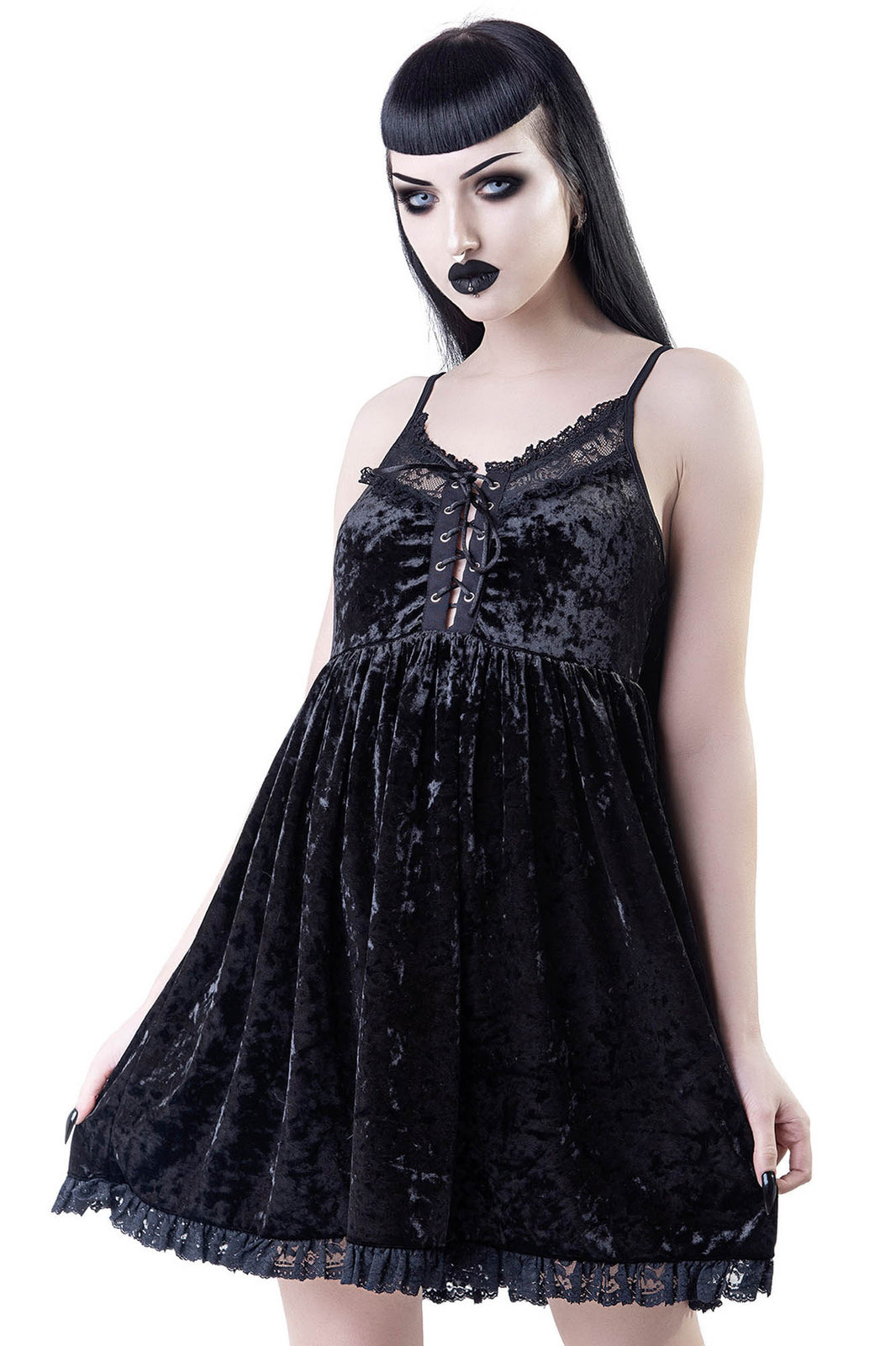 Ashbury's Angel Velvet Dress