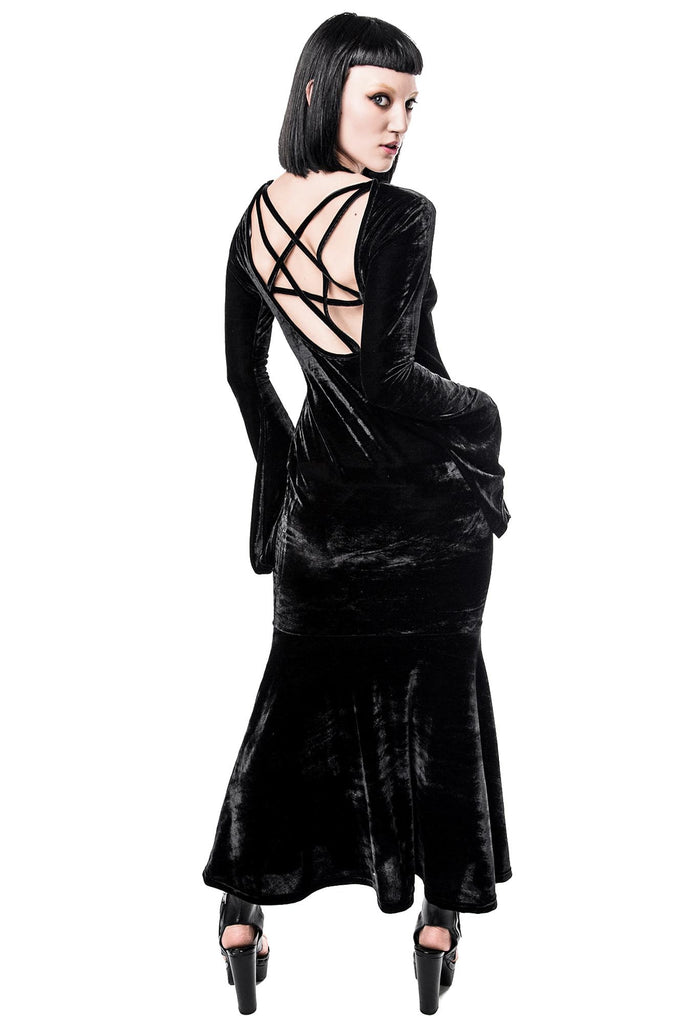 Bathory Velvet Maxi Dress [B]