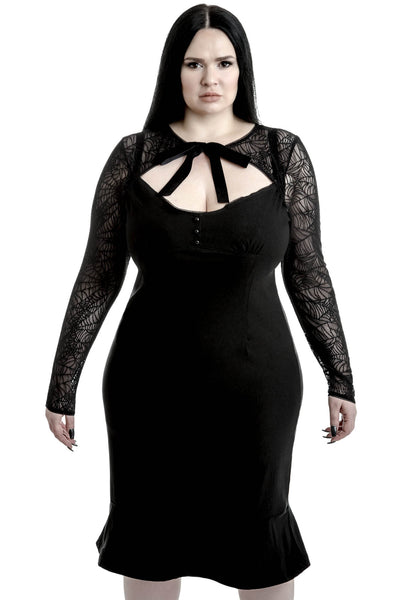 Bat To The Bone Bodycon Dress [PLUS]