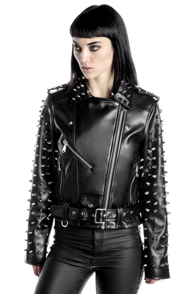 Billie Studded Biker Jacket [B]