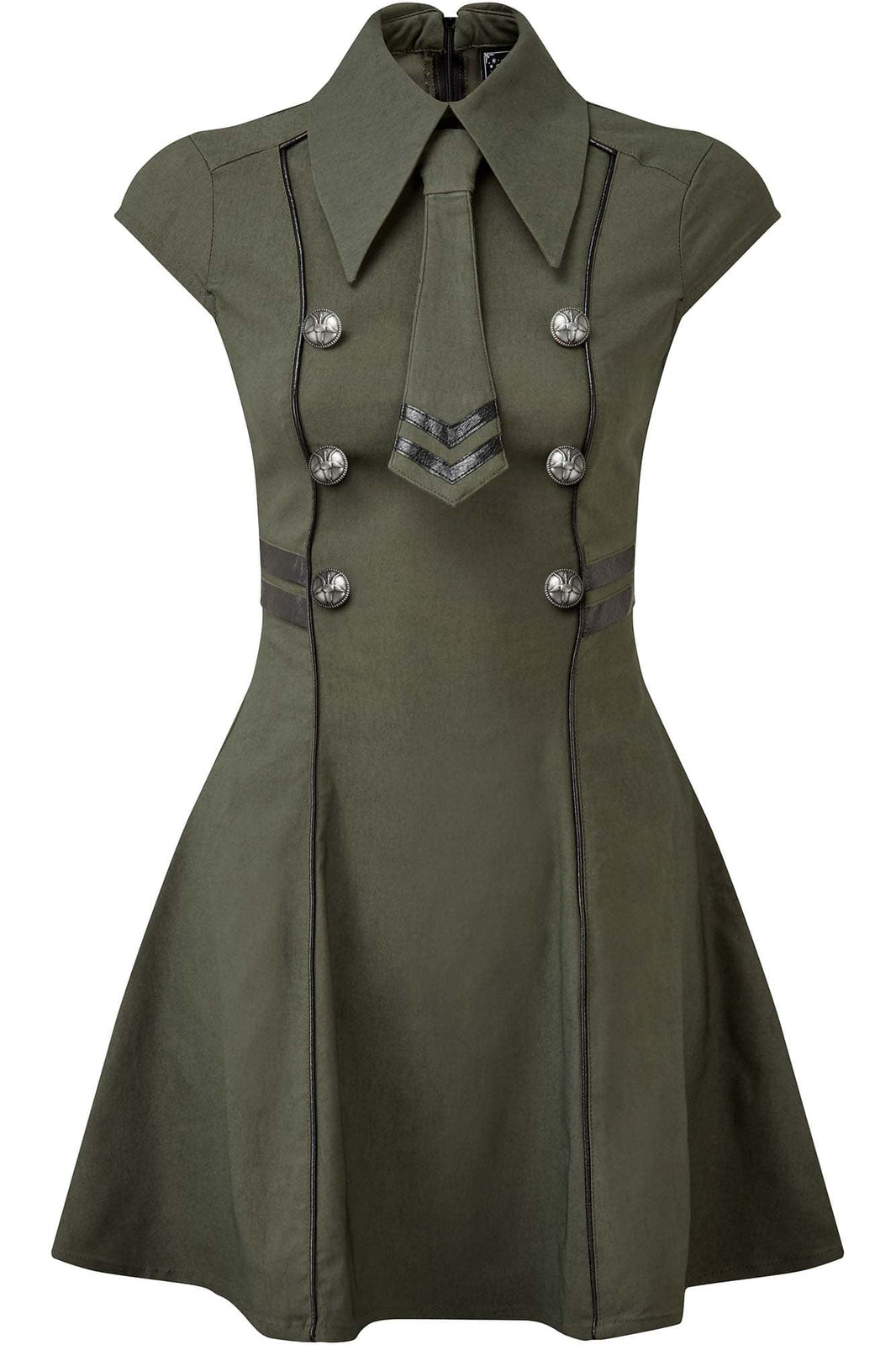 Black-Ops Skater Dress [KHAKI]