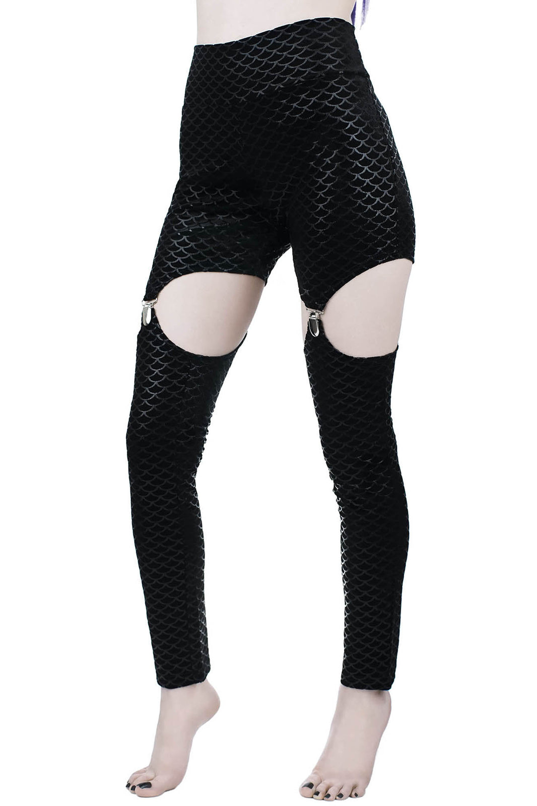 Black Sea Suspender Leggings [B]