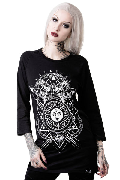 Black Sun Raglan Top [B]