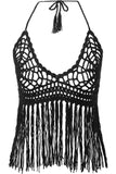 Black Widows Crochet Halter Top