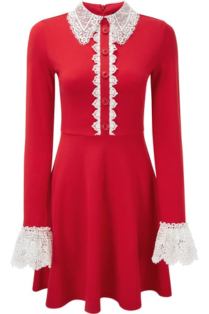 Blessed Be Collar Dress [BLOOD]