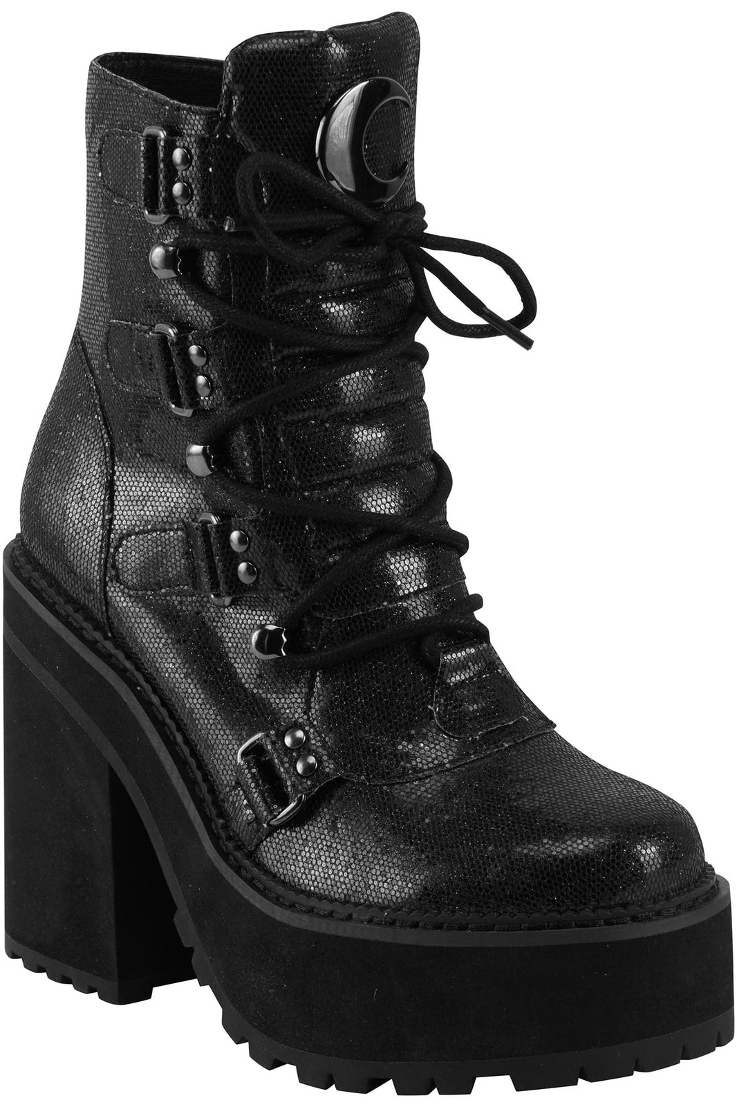 Broom Rider Boots [BLACK GLITTER]
