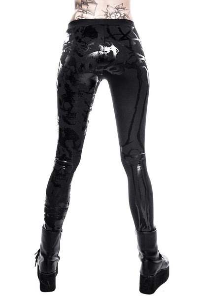 Back of KILLSTAR Chaos Matrix Leggings Occult Clothing