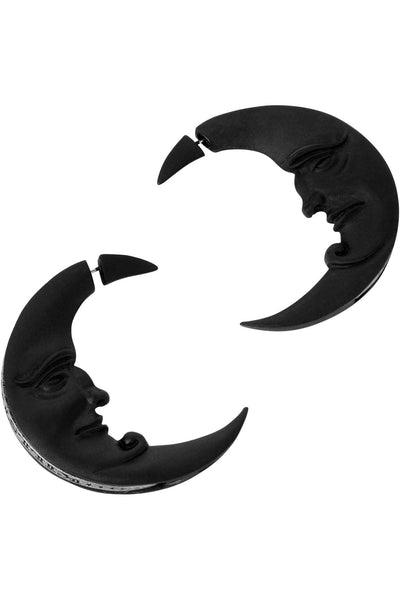 Crescent Moon Earrings [B]