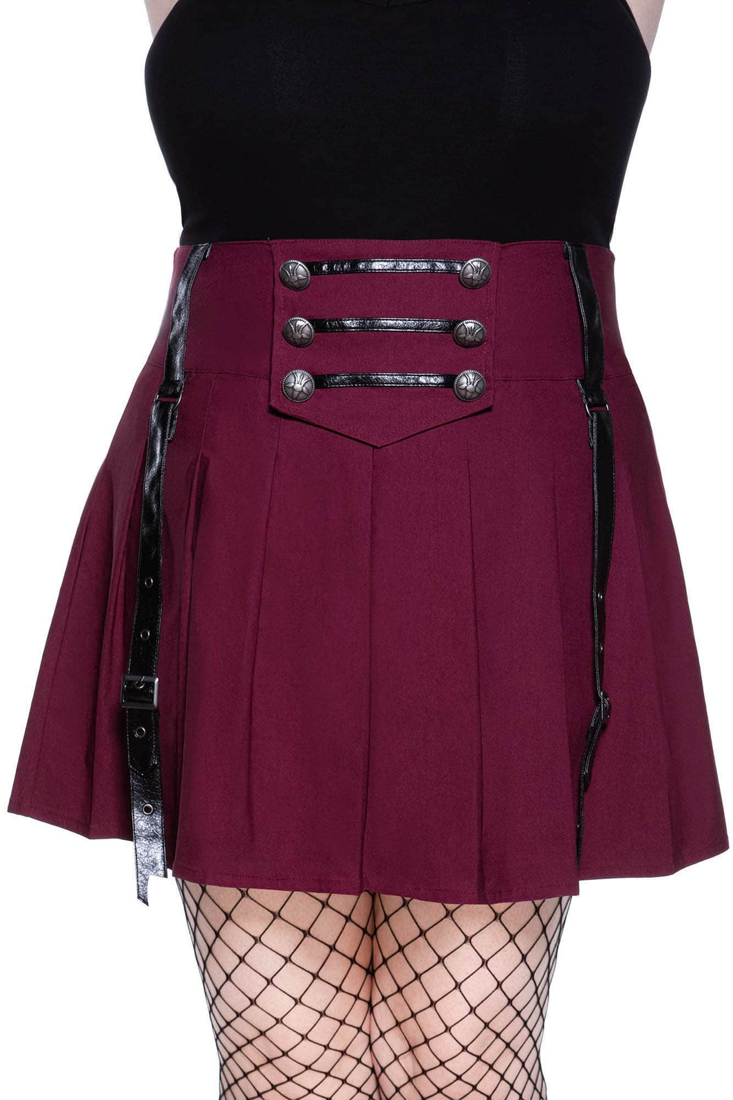Dark Academy Mini Skirt [BLOOD] [PLUS]
