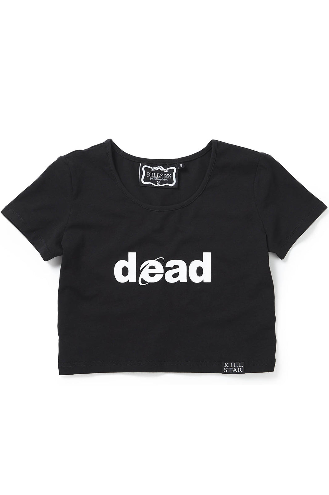 Dead Scoop Neck Crop Top [B]