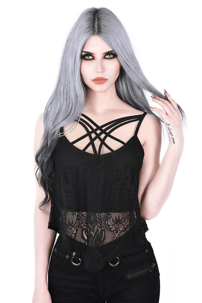 Deadly Beloved Lace Vest [B]