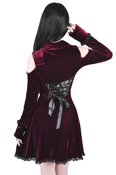 Dead Silent Shirt Dress [WINE]