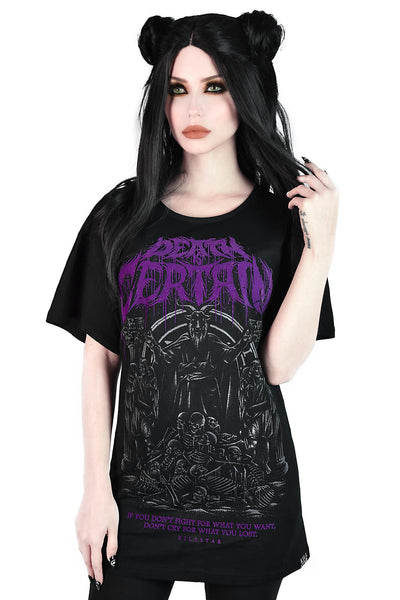 Death Is Certain Relaxed Top