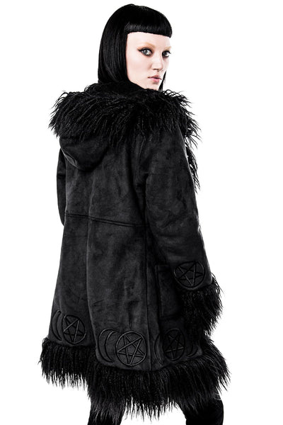 Die Anna Almost Infamous Shearling Coat [B]