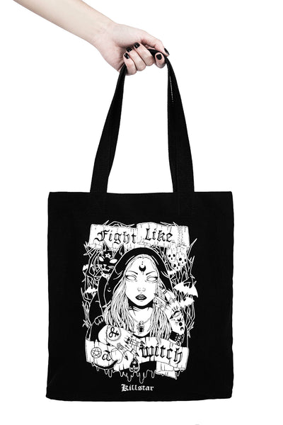 Fight Like A Witch Tote Bag [B]