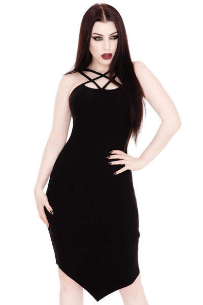 Hazel Hell Ribbed Bodycon Dress [B]