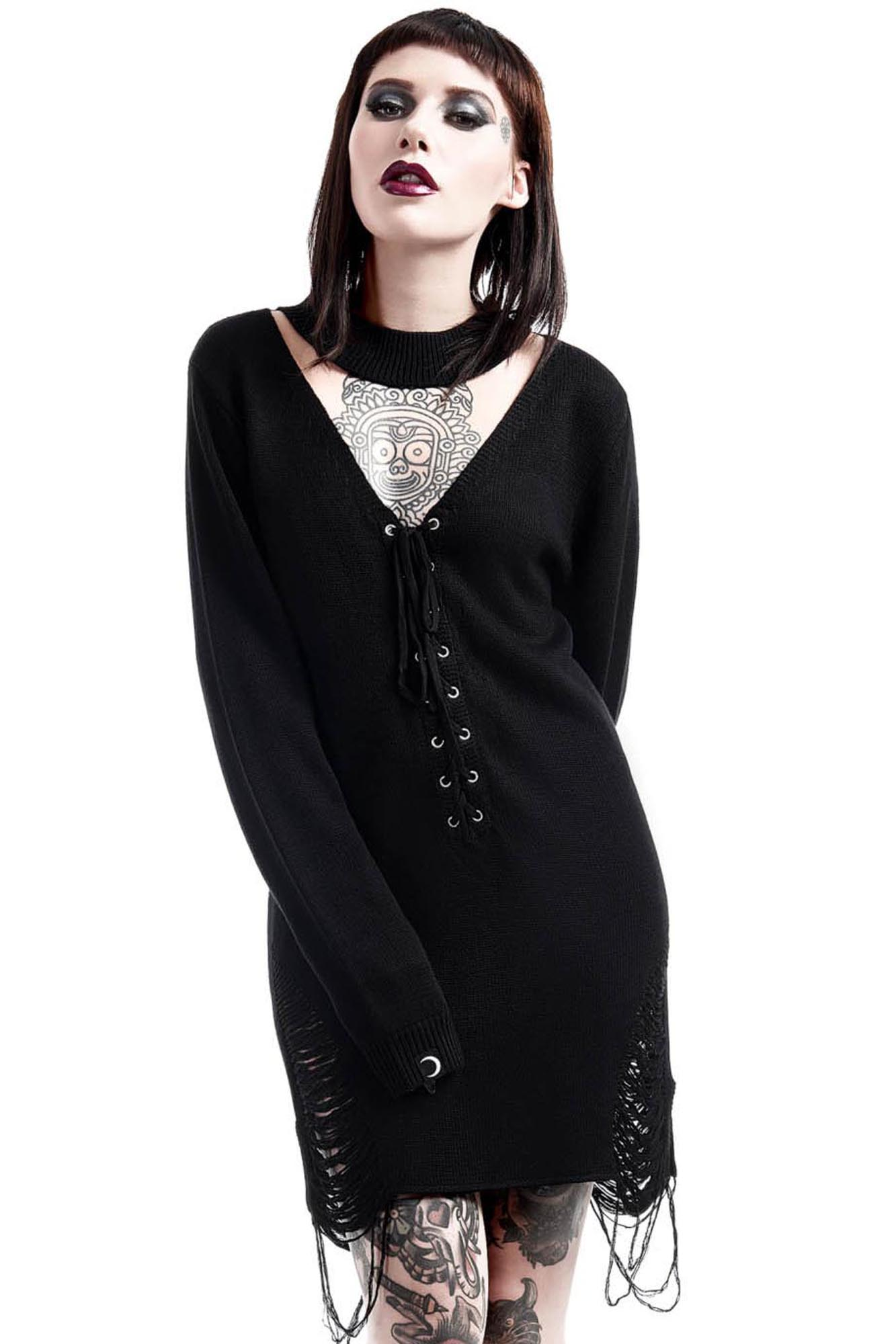d73747a104 what s this  Hell In Harlow Distress Knit Sweater ...