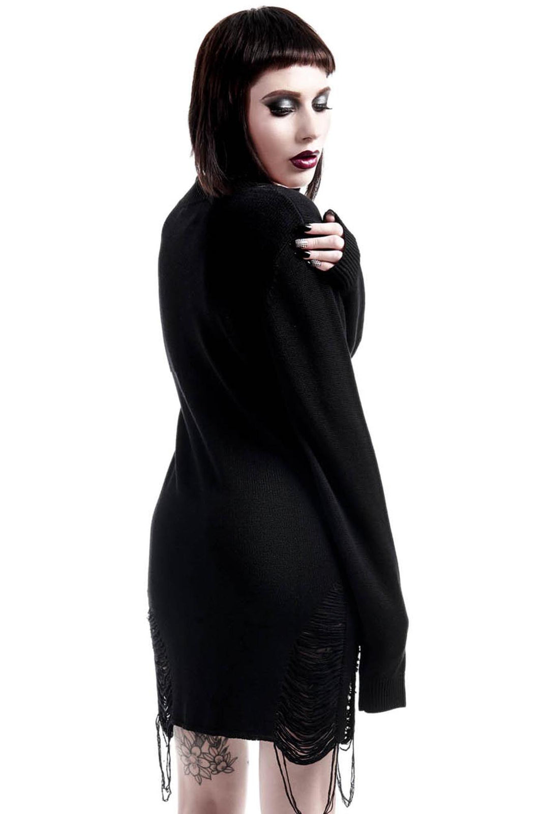 Hell In Harlow Distress Knit Sweater [B]