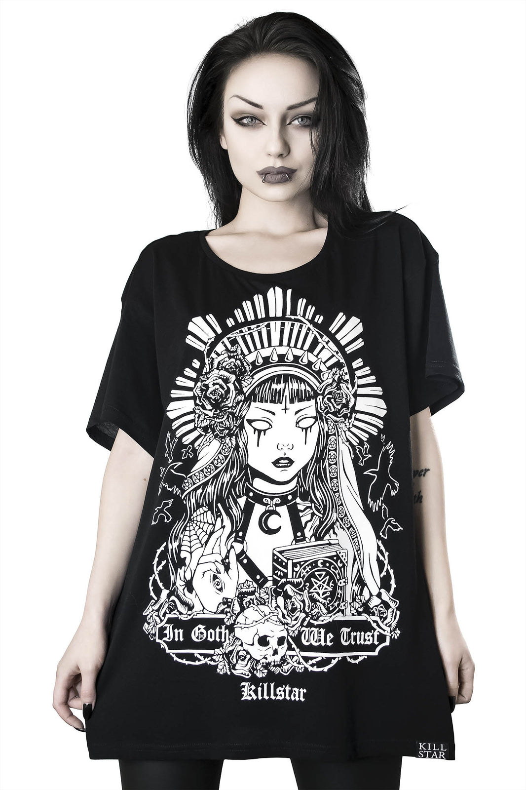 In Goth We Trust Relaxed Top