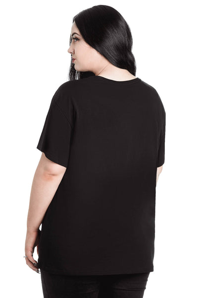 In Goth We Trust Relaxed Top [PLUS]